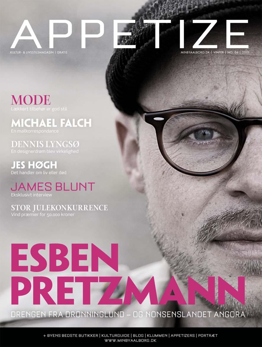 Esben Pretzmann – På forsiden af Appetize nr. 46 (Vinter 2011)