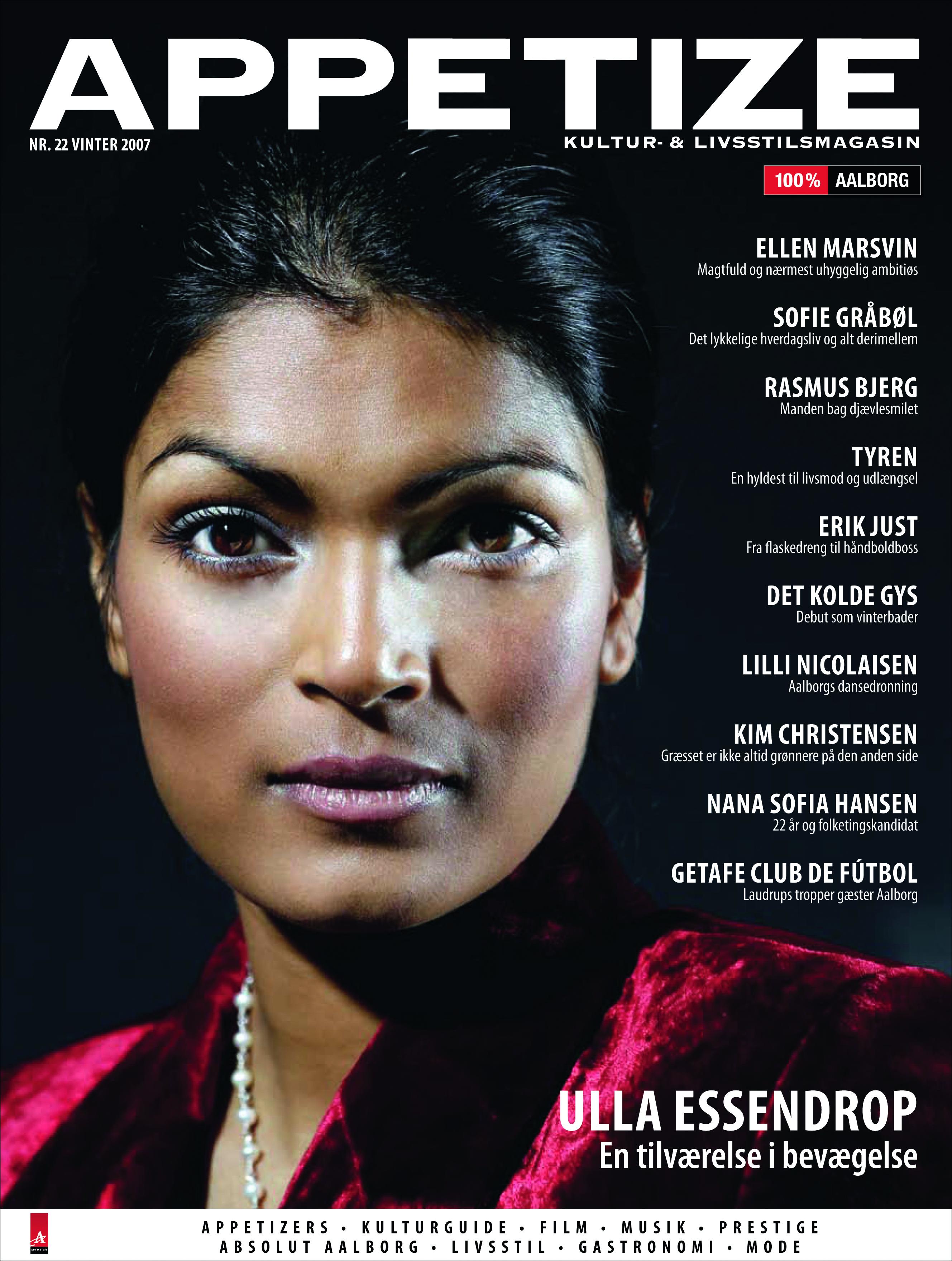 Ulla Essendrop– På forsiden af Appetize nr. 22  (Vinter 2007)