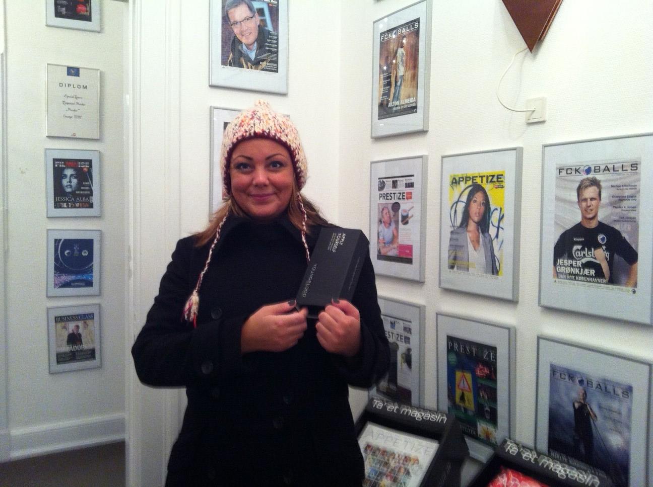 Line Boe blev den heldige vinder af makeuppenslerne fra Youngblood